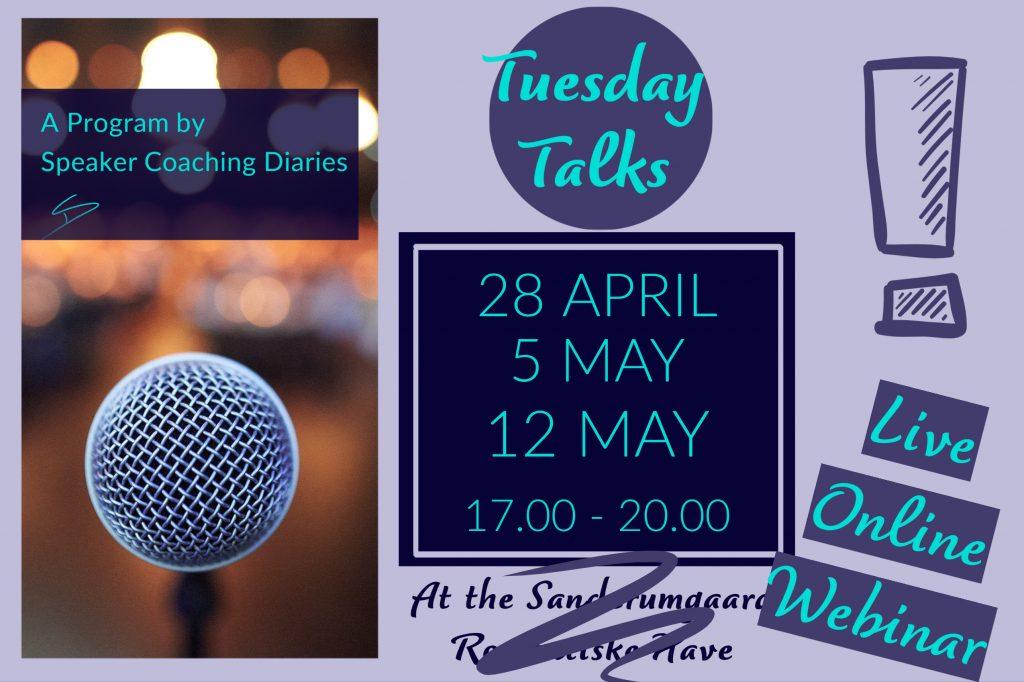 workshop Speaker Coaching Diaries Tuesday Talks public speaking